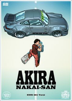ArtStation - Akira poster - with Akira Nakai-San & RWB 964 Yoroi, Jarek Kwas Kwaśniak