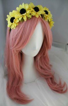 Yellow Sunflower Crown Headband