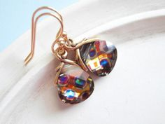 Swarovski Earrings  Polka Dots Swarovski Crystal by linkeldesigns, $27.00