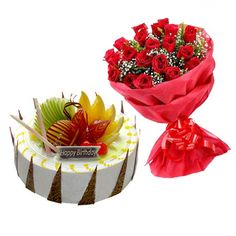 Get same day delivery at your home, Book #Anniversarycakewithflower on 9718108300 now.