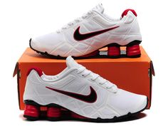 Nike Shox -Turbo12 Men White Red-$78.88