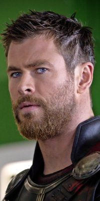 Chris Hemsworth as Thor Chris Hemsworth Thor, Beard Growth, Chris Evans Captain America, Hollywood Actor, Marvel Heroes, Beard Styles, Marvel Cinematic, Haircuts For Men, American