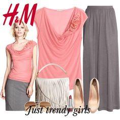 h&m maxi skirt 7 s