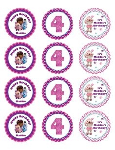 Printable Personalized Doc McStuffins Stickers or Gift Tags. $8.00, via Etsy.