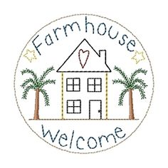 Farmhouse Candle Mat - 4x4 | Primitive | Machine Embroidery Designs | SWAKembroidery.com HeartStrings Embroidery