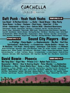 Im My Dreams Lineup   Coachella 2013 Line-Up Not Revealed - Stereogum