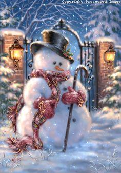 Pretty picture of a snowman