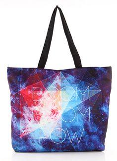 Bolso shopper Galaxia y Geométrico BOOM-Azul EUR21.89