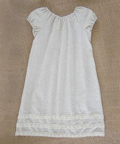 Another great find on #zulily! Beige Earth Blend Peasant Dress - Infant, Toddler & Girls #zulilyfinds