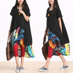 Abstract Print Dress - Tkdress