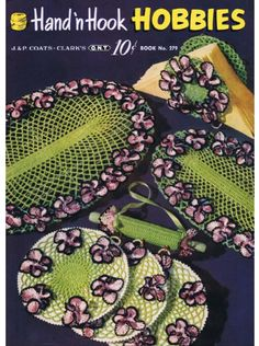 Download the Vintage Crochet Book Hand N Hook Hobbies to make beautiful gifts for your home http://payhip.com/b/01dH