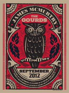 GigPosters.com - James Mcmurtry - Gourds