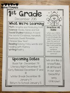 class newsletters for easy organization great tips for new teachers classroom newsletter template