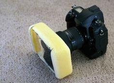 Camera Lens Filter Holder Made Out Of Sponge - DesignTAXI.com