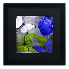 Trademark Art 'Morphos Two' by Color Bakery Framed Painting Print