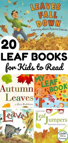 These kids' books about leaves are packed with gorgeous illustrations - perfect for reading this fall! Fun Activities For Kids, Autumn Activities, Crafts For Kids, Literacy Skills, Early Literacy, Best Toddler Books, Leaf Book, Fallen Book, Bonfire Night
