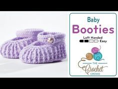 How to Crochet Baby Mary Jane Booties Left Handed