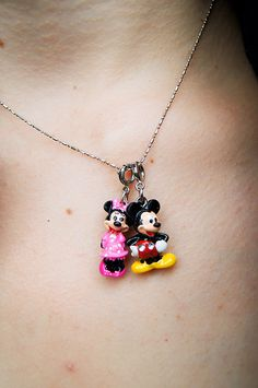 Minnie and Mickey necklace -- So cute!