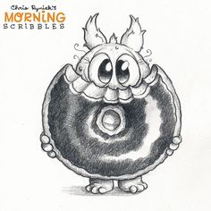 This donut is almost big enough.  #morningscribbles