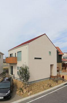 CASE#102::三角屋根のシンプルな外観を実現した家 - R+house(アールプラスハウス)岡崎の注文住宅|燃費のいい家 | 愛知・名古屋