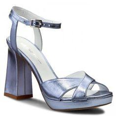 Sandály SOLO FEMME - 13303-01-E84/000-07-00 Modrá Tommy Hilfiger, Platform, Heels, Model, Fashion, Woman, Heel, Moda