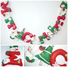 Sew your own Merry Christmas banner inc door TheBannerBoutiqueUK