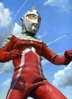 Ultra Seven by (artist) SHUchanchan Fantasy Movies, Sci Fi Movies, Japanese Superheroes, Ultra Series, Ghost Rider Marvel, Cartoon Tv, Cultura Pop, Anime, Godzilla