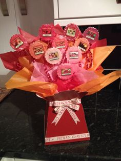Yankee tart bouquet Pinks, reds orange Beautiful gift