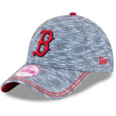 Women's New Era Boston Red Sox 9TWENTY Midnite Tech Adjustable Cap ($24) ❤ liked on Polyvore featuring accessories, hats, med grey, adjustable strap hats, new era hats, new era cap, adjustable hats and boston red sox hat