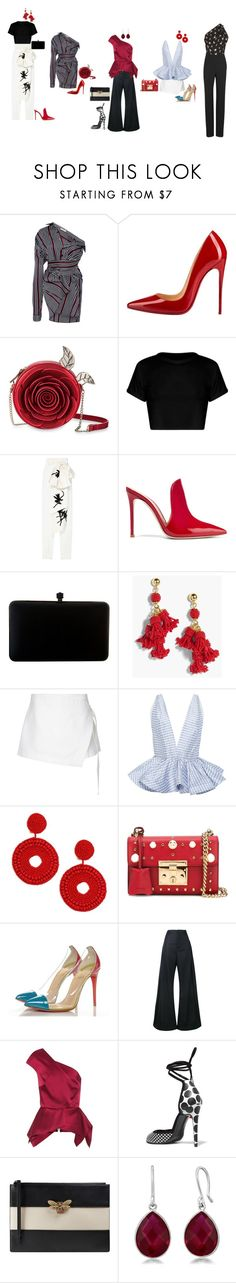 """""""Untitled #107"""" by yusufbudiman on Polyvore featuring SemSem, Christian Louboutin, Gianvito Rossi, J.Crew, Dion Lee, Leal Daccarett, Kenneth Jay Lane, Gucci, Jacquemus and Roland Mouret"""