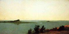 Рыба острова от студии Kensett в на острове   Удовлетворенность: 1872   John Frederick Kensett