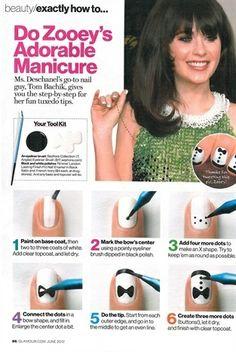 tuxedo nails tutorial