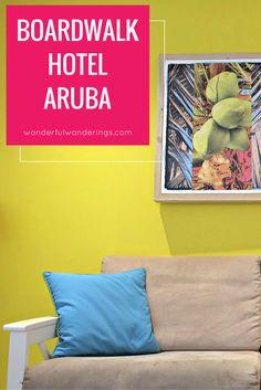 Het Boardwalk Hotel Aruba bij Palm Beach is een klein hotel waar je je meteen thuis voelt. Klik om meer te lezen of pin en bewaar voor later.