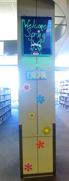 Welcome Spring 2016 display at the Ronald H. Roberts Temecula Public Library Teen Zone