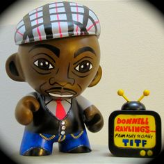 Custom Comedian Donnell Rawlings vinyl munny toy by Artist Denise Vasquez