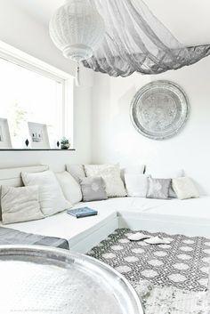 Marocká inspirace // #white #decor #homedecor #interior #interiordesign #luxury #room #beautiful #photography