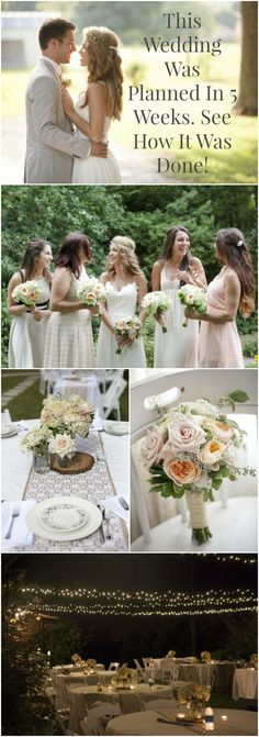 This wedding was planned in only 5 weeks - see how it was done! Love everything about it very simple