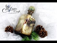 Decoupage Tutorial - Vintage Bottle - DIY Tutorial - YouTube