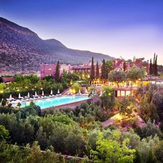 Kasbah Tamdot is an award winning hotel near Marrakech. Situated in the Atlas Mountains, Kasbah Tamadot is one of the finest luxury hotels In Morocco. Richard Gere, Richard Branson, Romantic Destinations, Honeymoon Destinations, Romantic Getaways, Vacation Places, Dream Vacations, Vacation Spots, Beach Resorts