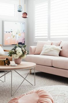 18 Chic Blush Pink Sofas & How to Style Them!