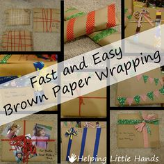 Helping Little Hands: More Brown Paper Wrapping Ideas
