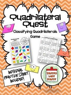 Classifying Quadrilaterals: Quadrilateral Quest Game and Practice Sheet