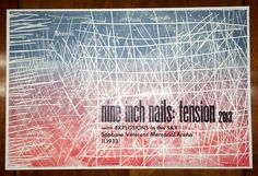 Nine Inch Nails: Tension 2013 Hatch Show Print Poster.
