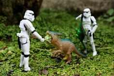 Stormtrooper and Dinosaur