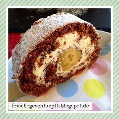 Frisch geschlüpft: Schoko-Bananen-Biskuitrolle #Rezept #Schokolade