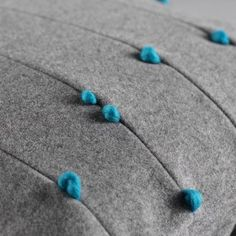 Details we like / textile / felt / wool / grey color/ accent blue / turquoise/ at leManoosh