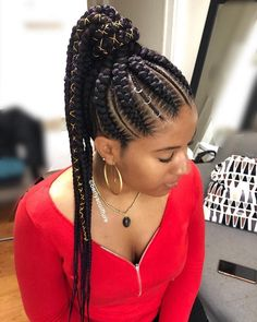 24 Inches length Jumbo Box Braids Kanekalon single color Braiding Xpression Hair, single color, 32 colors optional, As shown in the picture. Braided Cornrow Hairstyles, Black Hair Updo Hairstyles, Feed In Braids Hairstyles, Braids Hairstyles Pictures, Summer Hairstyles, Natural Hair Braids, Braids For Black Hair, Natural Hair Styles, Feed In Braids Ponytail