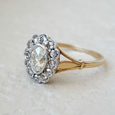 Antique Victorian to Edwardian Old Cut Diamond Pear Engagement Ring in 18k Gold by CypressCreekVintage on Etsy https://www.etsy.com/listing/268196180/antique-victorian-to-edwardian-old-cut