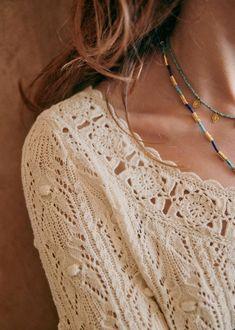 Crochet Tunic, Lace Knitting, Knitting Stitches, Knitting Patterns, Crochet Patterns, Green Cotton, Black Cotton, Balloon Shapes, Fur Clothing
