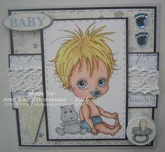 Mine Prosjekter: Til en guttebaby Digital Stamps, Homemade Cards, Paper Crafting, Card Making, Create, Handmade, Diy, Image, Color